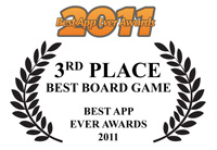 War on Terror, the application was voted 3rd best board game app of 2011