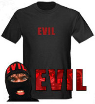 EVIL T-shirt on Cafe Press